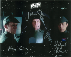 Julian Glover, Michael Culver & Ken Colley Signed Picture